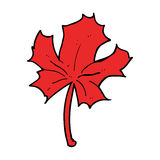 Cartoon red maple leaf Royalty Free Stock Photography