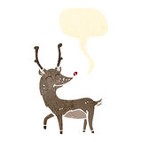 Cartoon red nosed reindeer Stock Image