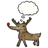 Cartoon red nosed reindeer Royalty Free Stock Photography