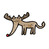 Cartoon red nosed reindeer Royalty Free Stock Image