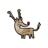 Cartoon red nosed reindeer Stock Images