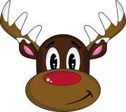 Cartoon Red Nosed Reindeer. An EPS file is also available Royalty Free Stock Photo