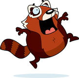 Cartoon Red Panda Jumping Stock Image