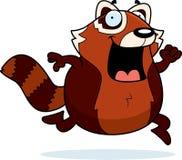 Cartoon Red Panda Running Stock Images