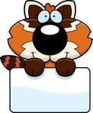 Cartoon Red Panda Sign Stock Photography