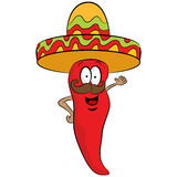 Cartoon Red Pepper Character Royalty Free Stock Photography