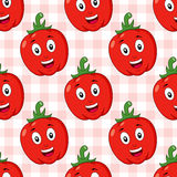 Cartoon Red Pepper Seamless Pattern Stock Photography