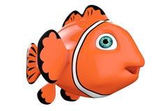 Cartoon Red Sea Clownfish. 3d Rendering Stock Image