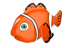 Cartoon Red Sea Clownfish. 3d Rendering Stock Photo