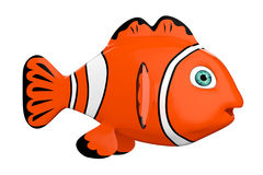 Cartoon Red Sea Clownfish. 3d Rendering Stock Photography