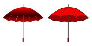 Cartoon red umbrella Stock Image