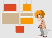 Cartoon redhead man Royalty Free Stock Photo