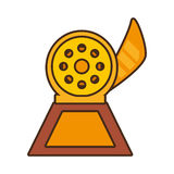Cartoon reel movie trophy awards gold wooden. Vector illustration eps 10 vector illustration