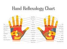 Cartoon Reflexology Hands Alternative Medicine. Vector. Cartoon Reflexology Hands Alternative Medicine Flat Style Design Chart View Relax Massage. Vector Royalty Free Stock Images