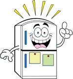 Cartoon refrigerator with an idea Lizenzfreies Stockfoto