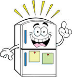 Cartoon refrigerator with an idea Royalty Free Stock Photo