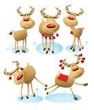 Cartoon reindeer. Vector illustration of funny cartoon reindeer Royalty Free Stock Photo