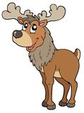 Cartoon reindeer Stock Photography