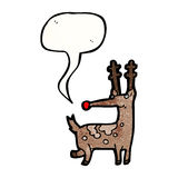 Cartoon reindeer Stock Photo