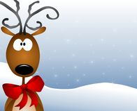 Cartoon Reindeer Background Royalty Free Stock Photography