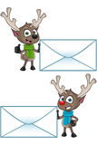 Cartoon Reindeer - Big Letter Stock Photography