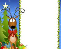 Cartoon Reindeer Border 2 Stock Images
