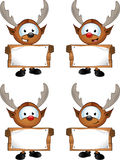 Cartoon Reindeer Character Stock Photos