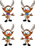 Cartoon Reindeer Character Royalty Free Stock Photo