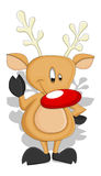 Cartoon Reindeer - Christmas Vector Illustration Stock Images