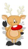 Cartoon Reindeer - Christmas Vector Illustration Stock Images