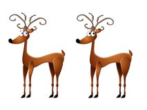 Cartoon Reindeer Clip Art. A clip art illustration featuring your choice of reindeer male and female isolated Royalty Free Stock Image