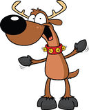 Cartoon Reindeer Excited Royalty Free Stock Images