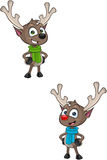 Cartoon Reindeer - Hands On Hips Stock Images