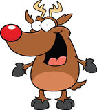 Cartoon Reindeer Happy Royalty Free Stock Photo