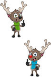 Cartoon Reindeer - Having An Idea Stock Images