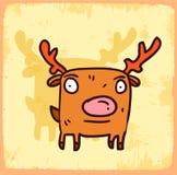 Cartoon reindeer illustration , vector icon Royalty Free Stock Photos