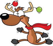 Cartoon Reindeer Running Stock Photo
