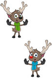 Cartoon Reindeer -Saying Stop Stock Photo