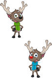 Cartoon Reindeer -Sticking Out Tongue Royalty Free Stock Image