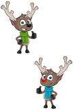 Cartoon Reindeer - Thumbs Up Royalty Free Stock Photography