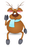 Cartoon Reindeer Vector Illustration Stock Photo