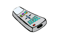 Cartoon remote control Royalty Free Stock Photo