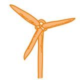 Cartoon representing a wind generator Stock Photo