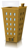 Cartoon Residential Building royalty free illustration