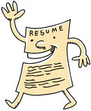 Cartoon Resume Stock Photos