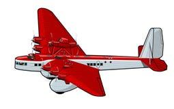 Cartoon Retro Airplane Royalty Free Stock Photo