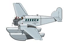 Cartoon Retro Airplane Royalty Free Stock Images