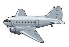 Cartoon Retro Airplane Royalty Free Stock Photography