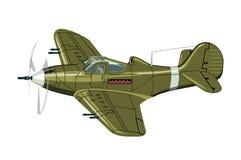 Cartoon Retro Airplane Stock Images