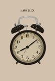 Cartoon retro  alarm clock . Wake up clock.illustration Vector. Cartoon retro  alarm clock . Wake up clock Royalty Free Stock Photography